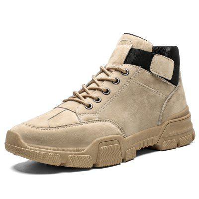 AILADUN Men's High-Top Retro Martin Boots Lace-up Non-slip Shoes