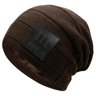 Moda męska Padded ogrzać Knit Hat Czapka Outdoor Casual