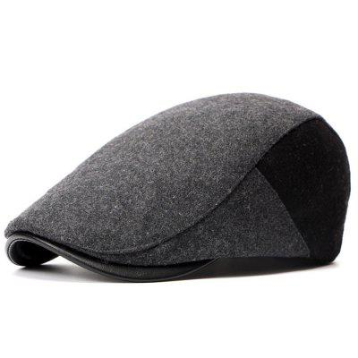 Men's Autumn And Winter Warm Color Matching Beret