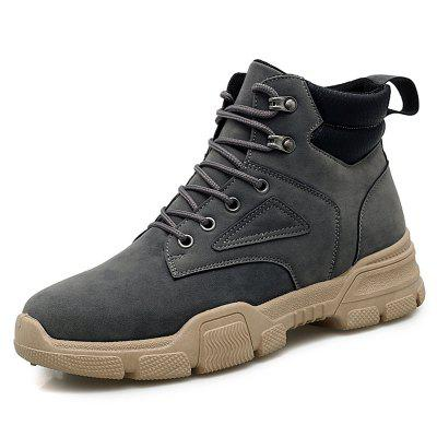 Men's British Style High-top Martin Boots Durable Lace-up Tooling Shoes