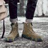 SENBAO Men's High Top Lace Up Boots Vintage Tooling Shoes - ARMY GREEN