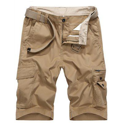 Men's Casual Outdoor Shorts Cotton Fabric Multi Bags Pants