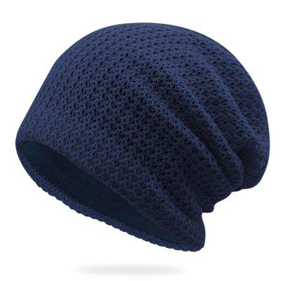 Men's Keep Warm Knitted Hat Winter Solid Color Ear Protective Headgear
