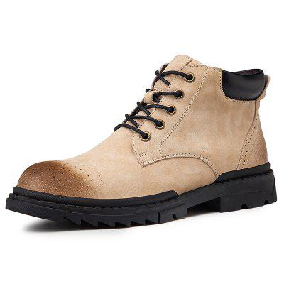 AILADUN Men Mid-high Lace Up Boots Martin outdoorové topánky Slip Resistant