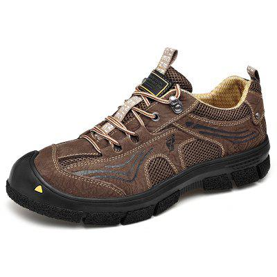 AILADUN Men Breathable Outdoor Sports Shoes Climbing Hiking Anti-collision Toe Sneaker