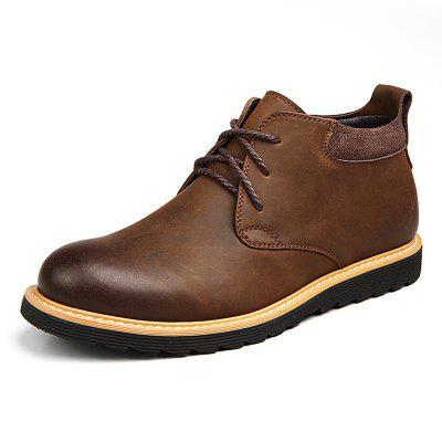 Men's Classic British Style Boots Casual Lace Up Shoes Durable