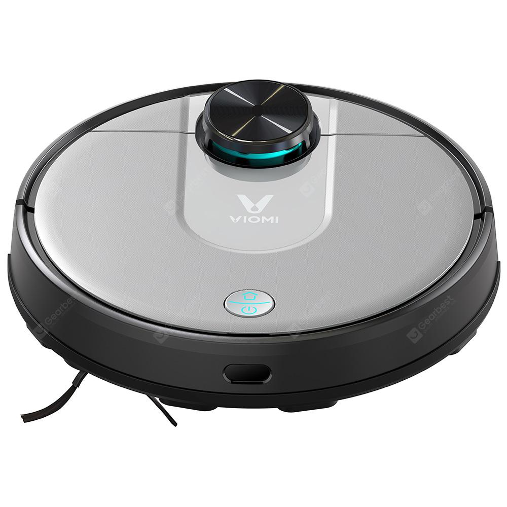 VIOMI V2 Pro LDS Sensor 2 in 1 Sweeping Mopping Robot Wet and Dry Vacuum Cleaner 2100Pa Strong Suction Self-charging (Xiaomi Ecosystem Product) - Natural Black