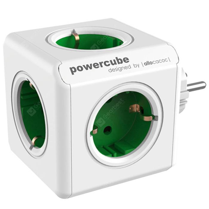 Gocomma 1100 Magic Cube 5 Socket EU Plug 3680W Travel Charger - Green 5 EU