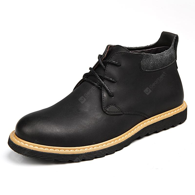 Leather Large Size Breathable Soft Men Casual Shoes