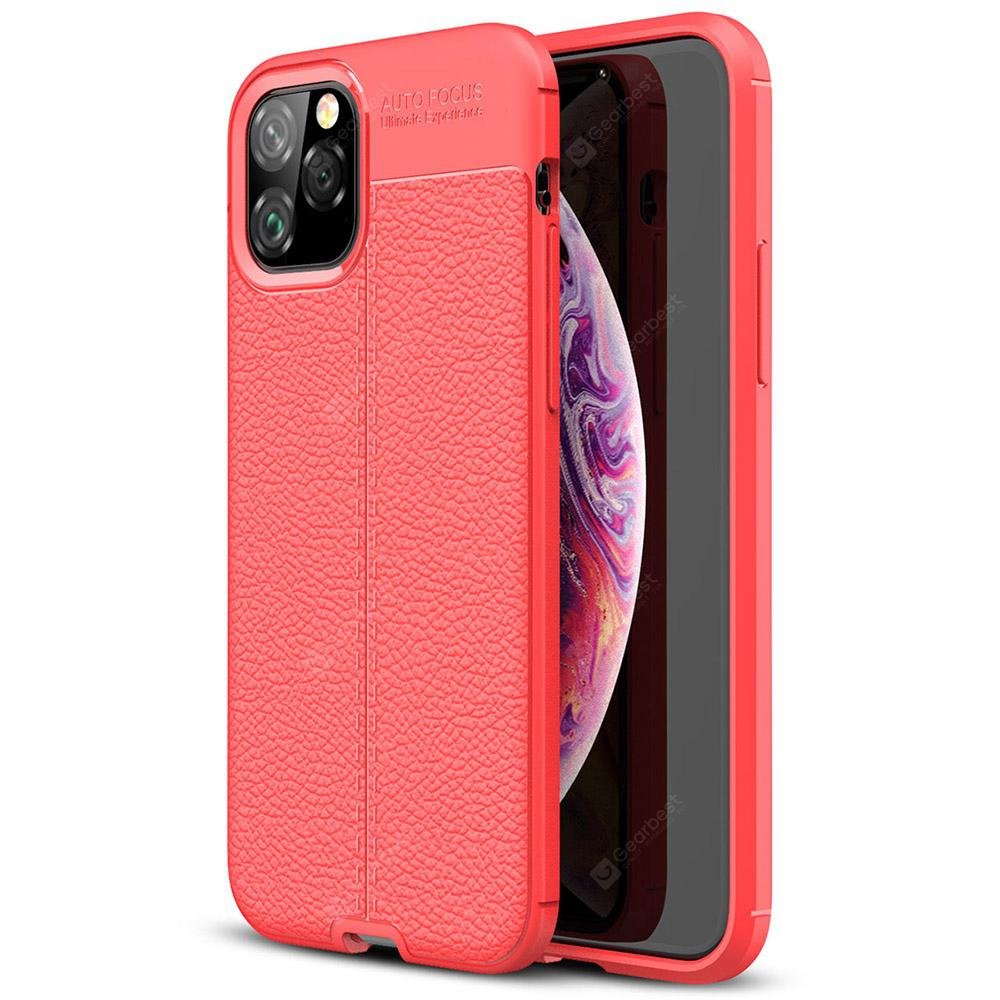 """ASLING Lychee Striae Phone Case Drop Resistance for iPhone 11 Pro / iPhone 11 / iPhone 11 Pro Max - iPhone 11 Pro Red"""
