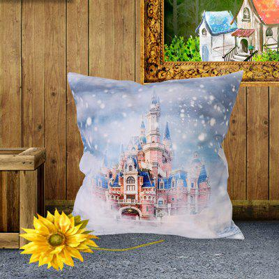 Christmas Style Pillowcase Digital Print Cushion Cover Polyester Short Plush Material