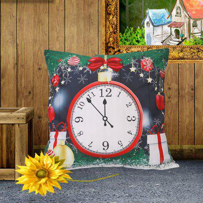 Christmas Style Pillowcase Digital Print Cushion Cover Polyester Short Plush Material 45 x 45cm