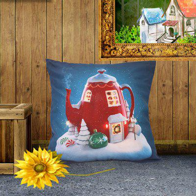 Colorful Style Pillowcase Digital Print Cushion Cover Polyester Short Plush Material