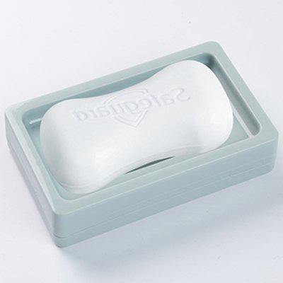 Solid Color Double Plain Soap Box Bathroom Storage Dish