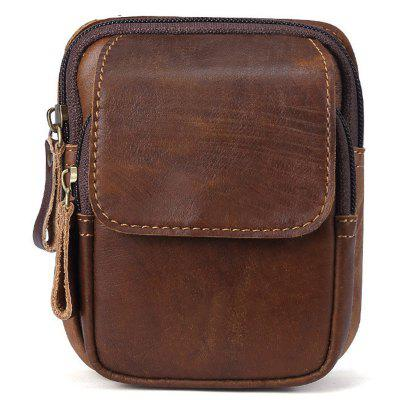 YAJIANMEI LS928 Men Retro Genuine Leather Waist Bag Outdoor Multifunction Pockets Wear On Belts Phone Package