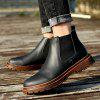 AILADUN Men Mid-high Martin Boots Retro Solid Shoes Durable Cowskin - BLACK