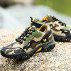 Men Camouflage Outdoor Shoes Casual Hiking Footwear Lace Up Slip Resistant - DEEP GREEN
