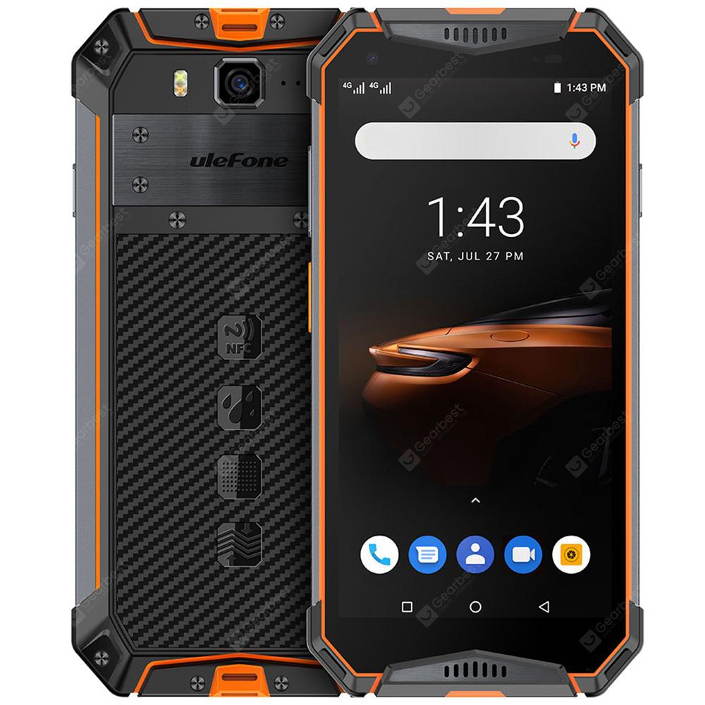 Ulefone Armor 3W 4G 5.7 inch Smartphone Android 9.0 Helio P70 Octa Core 2.1GHz 10300mAh Battery 21.0MP Rear Camera Face ID Fingerprint Recognition IP68 IP69K - Orange EU Version