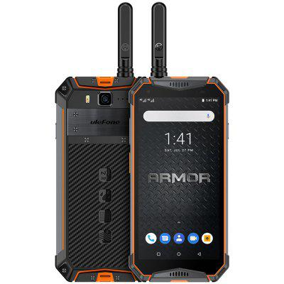 Ulefone Armor 3WT 4G Smartphone 5.7 inch Android 9.0 Helio P70 Octa Core 2.1GHz 6GB RAM 64GB ROM 21.0MP Rear Camera 10300mAh Battery Face ID Fingerprint Recognition IP68 IP69K Image