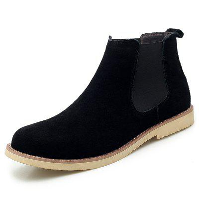 AILADUN Men's Mid-high Martin Boots Casual Slip-on Design Footwear Large Size Shoes