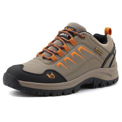 Male Durable Sneakers Microfiber Leather Upper Casual Outdoor Hiking Shoes Anti-collision Toe