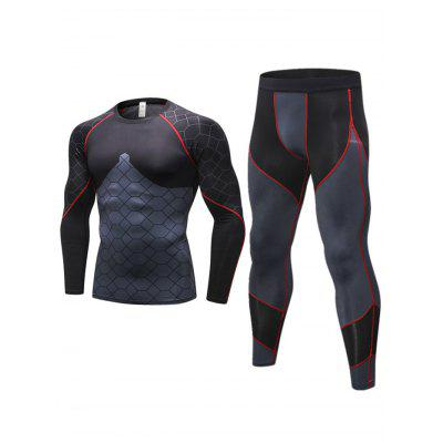 gearbest.com - Men's Tight-fitting 3D Cut Tracksuit Fitness Training Wear Elastic Fast Drying Clothing