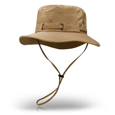 Y0033 Men's Solid Color Classic Summer Hat Foldable Large Brimmed Hat Mountaineering Hat