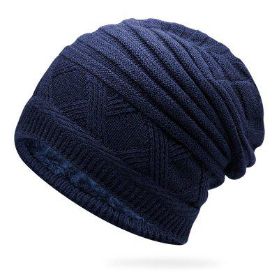Mannen Herfst Winter Muts Keep Warm mouwen Head Cap Solid Color Simple Duurzaam