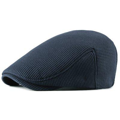 Men's Autumn And Winter Warm Thick Beret Hat Solid Color Design