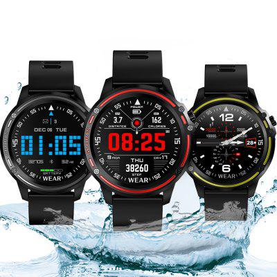 Bilikay L8 1.2 inch Nordic 52832 Metal IP68 Waterdicht Full Touch Smart horloge 320 mAh 7 dagen batterijduur