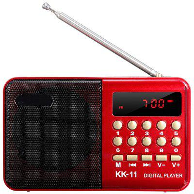 gocomma KK - 11 Mini Portable LCD Digital FM Radio Speaker Audio USB Micro SD TF Card MP3 Player