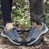 Male Durable Sneakers Microfiber Leather Upper Casual Outdoor Hiking Shoes Anti-collision Toe - GRAY