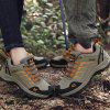 Male Durable Sneakers Microfiber Leather Upper Casual Outdoor Hiking Shoes Anti-collision Toe - SANDY BROWN