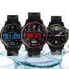 Bilikay L8 1.2 inch Nordic 52832 Metal IP68 Waterproof Full Touch Smart Watch 320mAh 7 Days Battery Life - BLACK