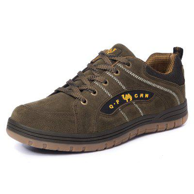 Male Durable Outdoor Sneaker Cross-country Hiking Shoes Lace Up Footwear Breathable Lining