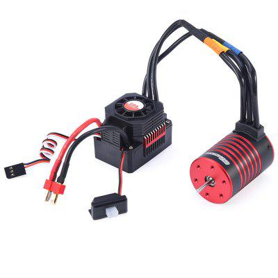 GTSKYTENRC 3650 3600KV / 5200KV Brushless Motor Heat Sink 60A ESC Waterproof Combo for RC 1/10 RC Car