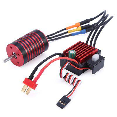 GTSKYTENRC 2838 3700KV / 4700KV Brushless Motor 35A ESC Combo for Traxxas HSP Tamiya Axial 1/16 1/12 RC Car