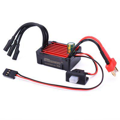 GTSKYTENRC 25A Waterproof ESC Electric Speed Controller for RC 1/16 1/18 1/20 RC Car 2030 2040 2430 2435 2440 2445 Motor