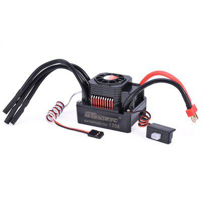 GTSKYTENRC 120A Waterproof ESC Electric Speed Controller for 1/8 RC Car 4076 4068 Brushless Motor