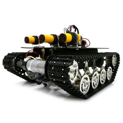 TS100 Tank Chassis Shock Absorber Metal Robot Car Kit Chassis For Arduino UNO R3 Intelligent Crawler Chassis DIY Kit