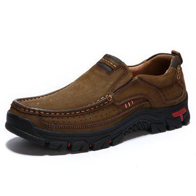 AILADUN Mannen ademend Outdoor Sneaker Convenient Slip-on Wandelschoenen Duurzaam