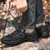 AILADUN Men Full Grain Leather Leisure Shoes Outdoor Thick Bottom Footwear Slip Resistant for Climbing Hiking - BLACK