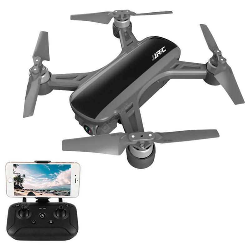 JJRC X9P Dual GPS RC Drone Heron 4K 5G WiFi Quadcopter 1KM FPV with 2-Axis Gimbal 50X Digital Zoom Optical Flow Positioning RTF - Black 1 Battery