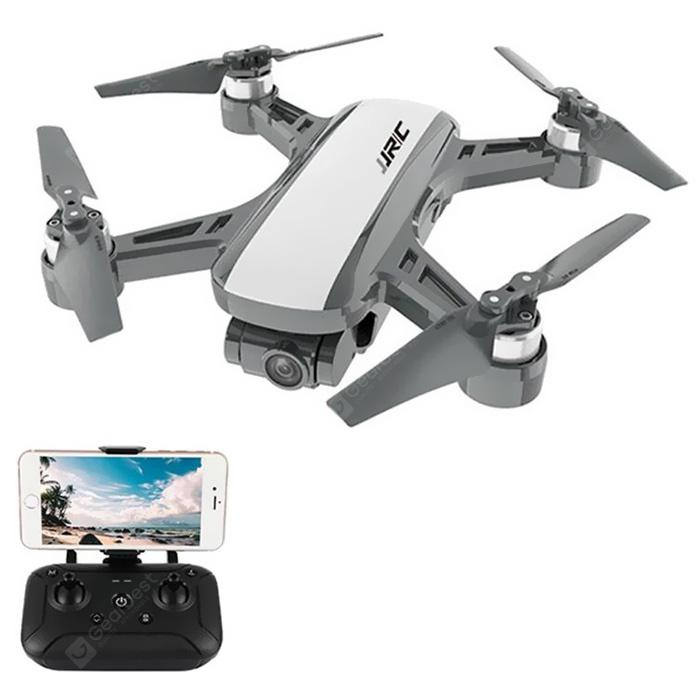 JJRC X9P Dual GPS RC Drone Heron 4K 5G WiFi Quadcopter 1KM FPV With 2-Axis Gimbal 50X Digital Zoom Optical Flow Positioning RTF - White 2 Batteries