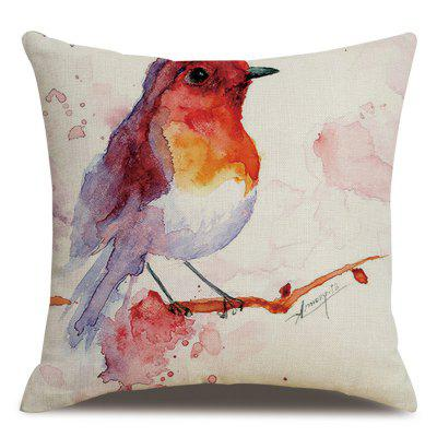 Flax Ink Cartoon Birds Pillowcase Cushion Cover 45 x 45cm
