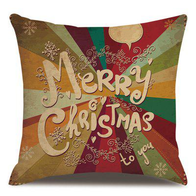 Christmas Snowman Style Pillowcase Cushion Cover 45 x 45cm
