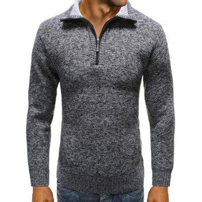 Half-zip Sweater Men Lapel Solid Color Sweaters Casual Everyday Clothing