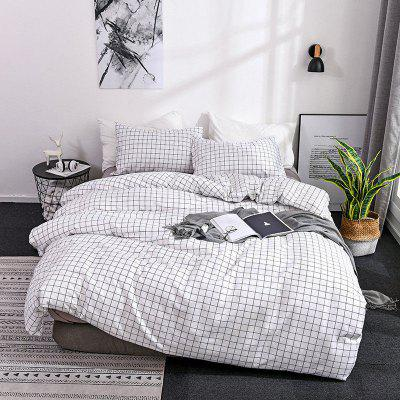 Black and White Plaid Moda minimalista Modern Style Home Textile cama Set