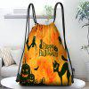 Halloween Style Drawstring Design Storage Bag Gift Candy Backpack - MULTI