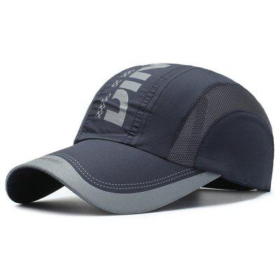 BQ311 Men Fast-drying Baseball Cap Letters Printing Sunscreens Hat Lightweight Breathable Mountaineering Peaked Headgear
